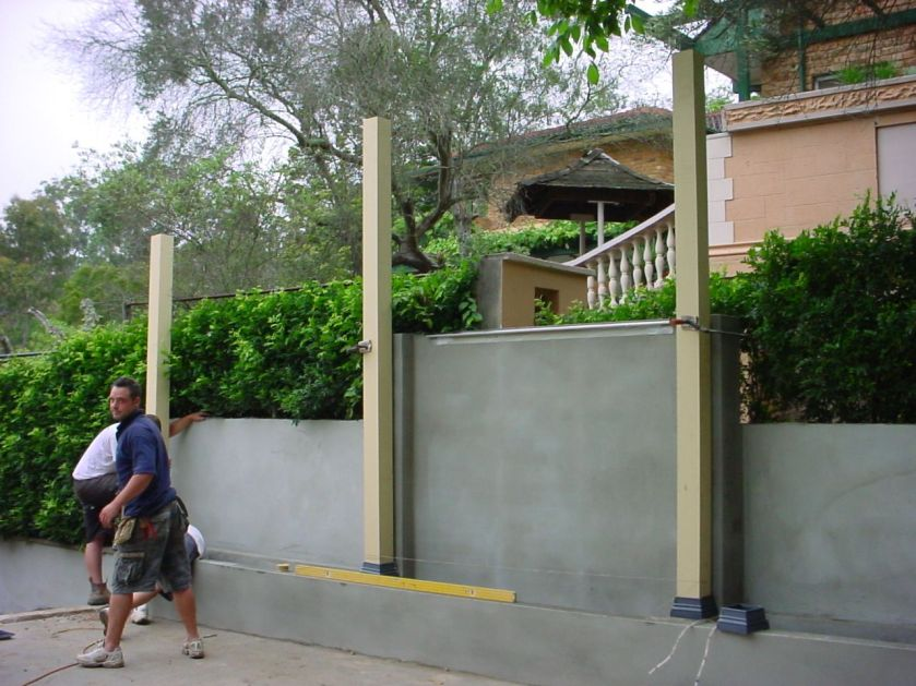 Rear Patio During Construction